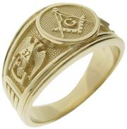 14k gold Master Mason & Scottish Rite 32nd degree ring