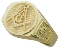 3RD DEGREE MASONIC RING IN 14K YELLOW GOLD