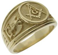 14k gold 3rd Degree Master Mason/SRSJ 32nd degree/York Rite Knights Templar ring