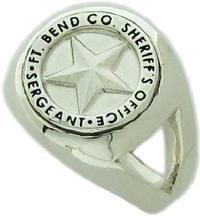 Fort Bend TX Sheriff's Sergeant badge ring