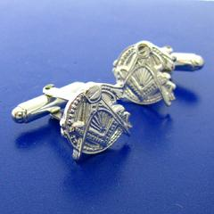 sterling silver antique style Masonic cuff links