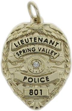 Custom police and fire fine jewelry 3d badge pendants custom 3d sculpted eagle top 14k yellow gold spring valley police lieutenant mini badge pendant aloadofball Gallery