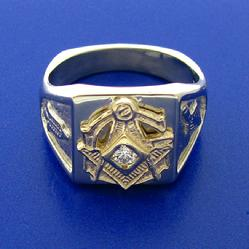 Master Mason ring with diamond