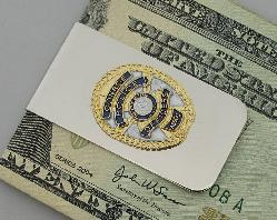 Conroe Police Officers Association member recognition money clip