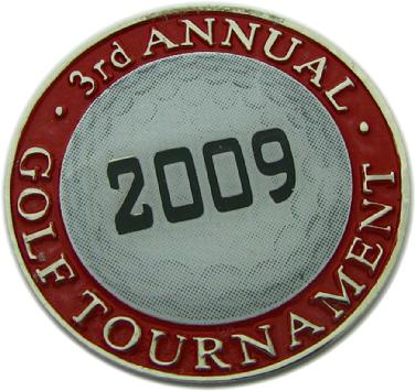 Ball marker coin for Saint Boniface Catholic School gold tournament